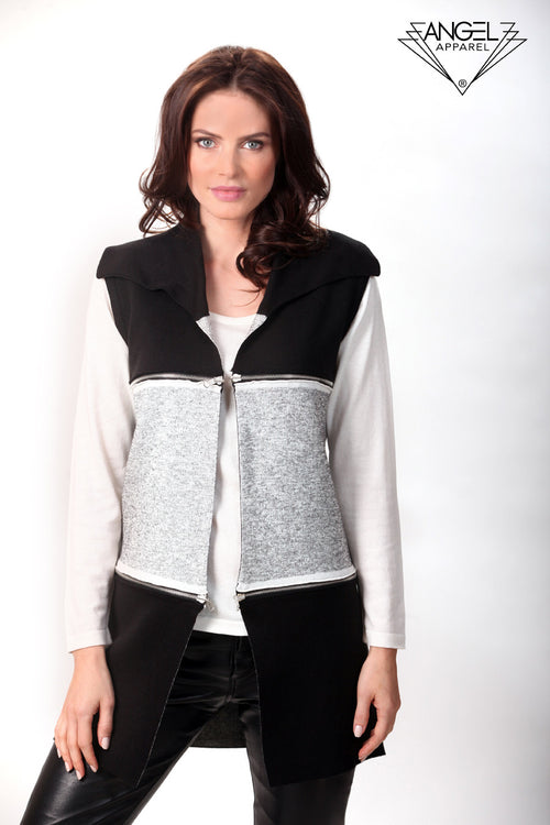 Double Zip Reversible Long Vest