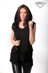 Double Zip Hooded Vest