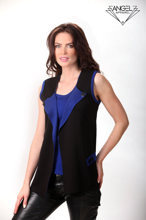 Button Collar Vest