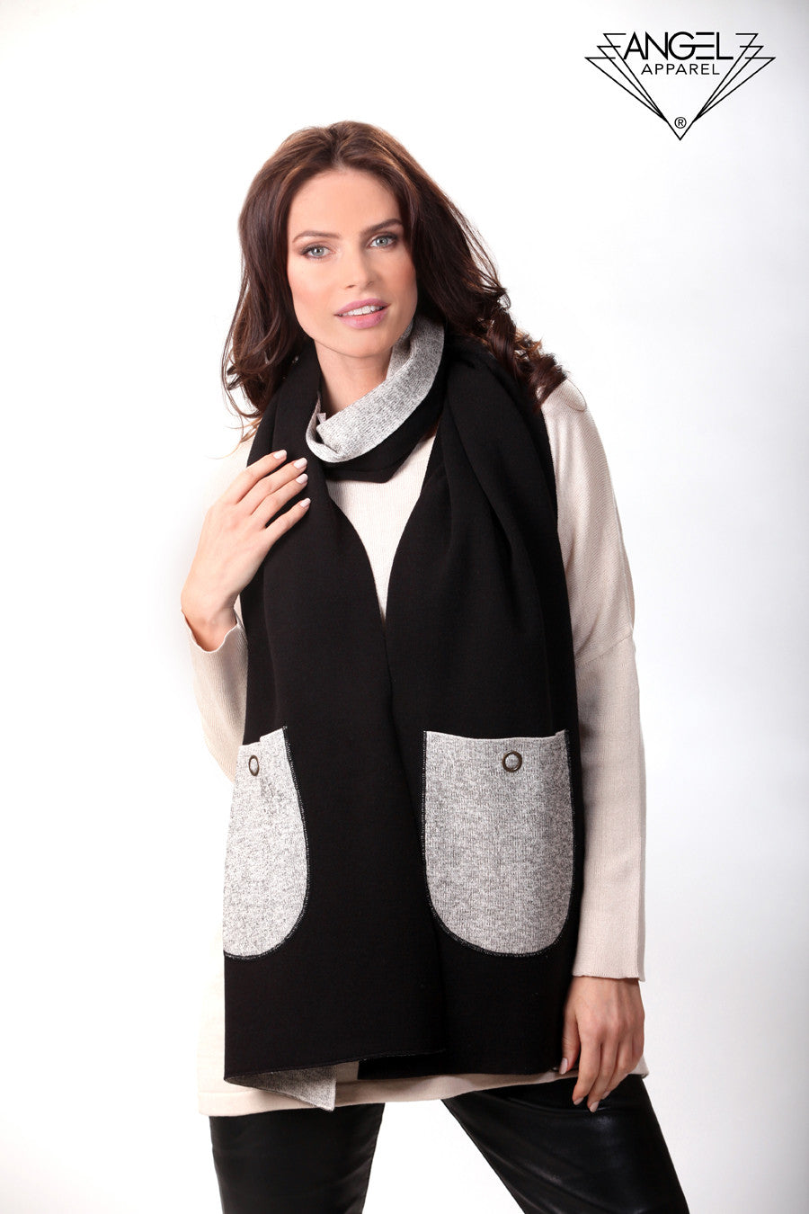 2-Tone Reversible Pocket Shawl