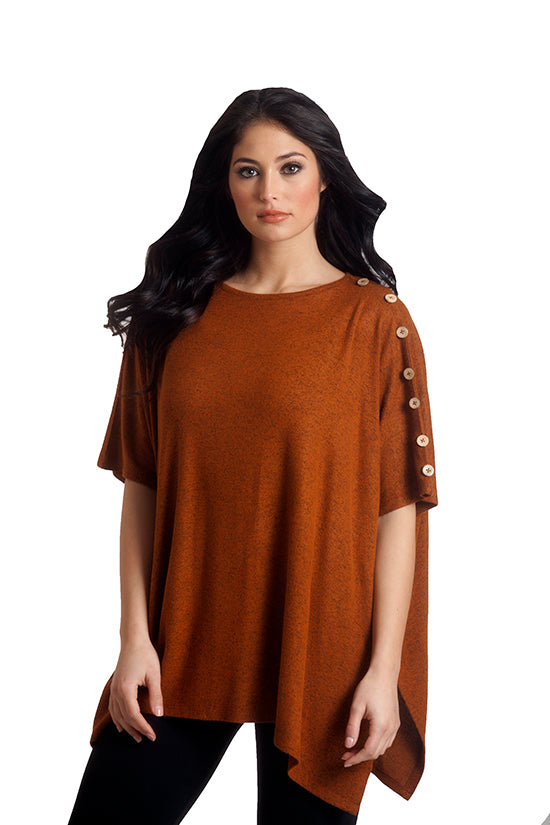 Supersoft Button Detail Poncho