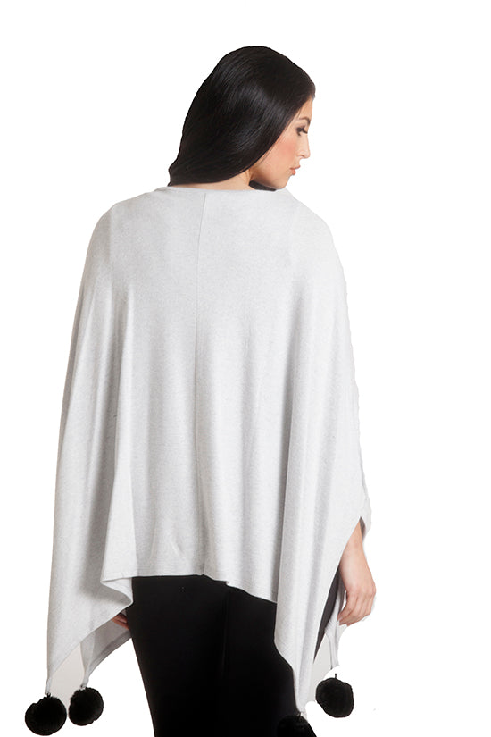 Supersoft Pom Pom Poncho