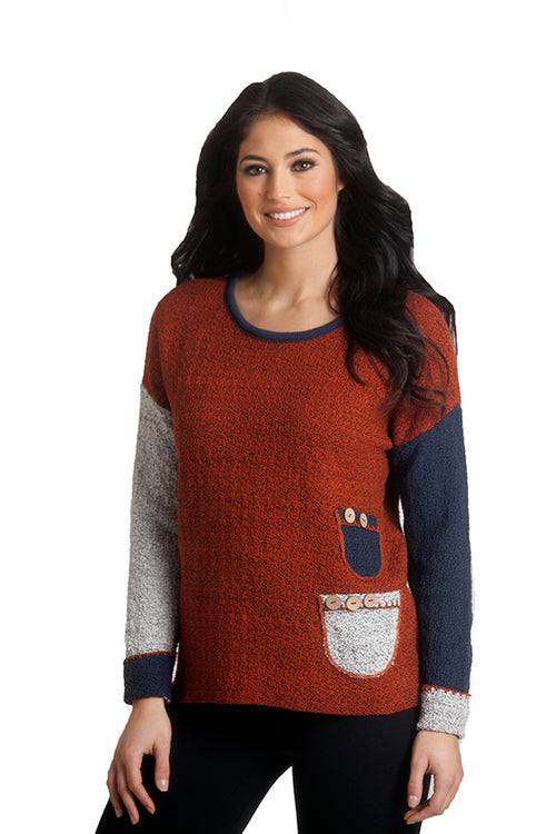 Boucle Two Pocket Sweater