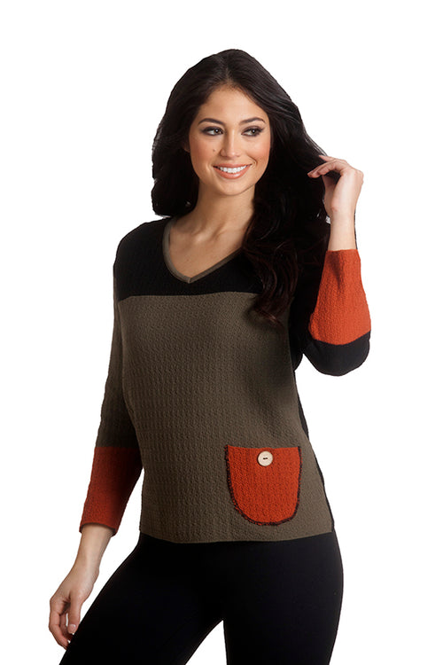 Boucle V-Neck Sweater
