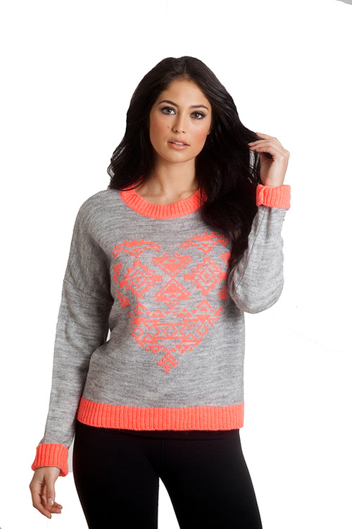 Aztec Heart Sweater