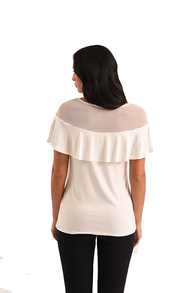 Vanessa Mesh Shoulder Top