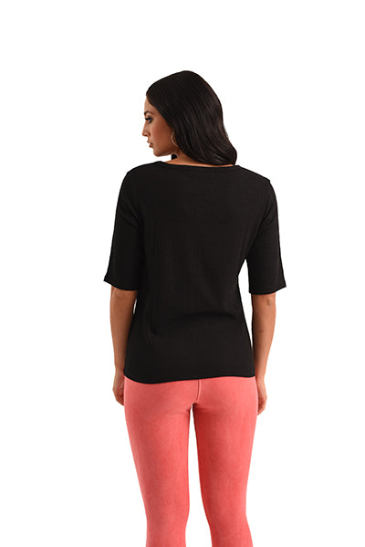 Coral 3/4 Sleeve Top