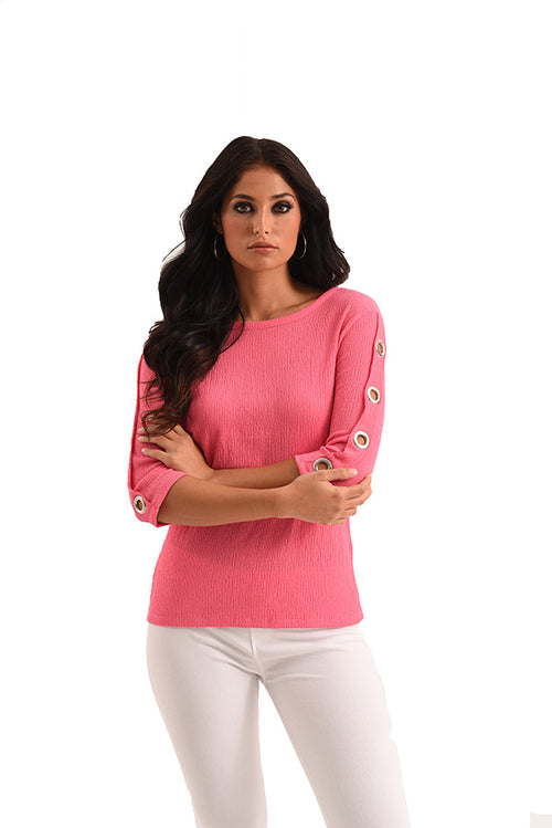 Janelle Grommet Sleeve Top