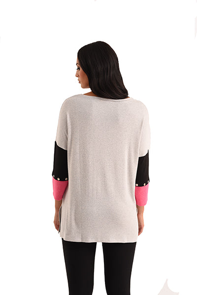 Alexia 3/4 Sleeve Kashmira Sweater