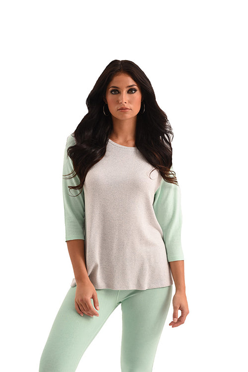 Brooklyn Baseball Sleeve Kashmira Top