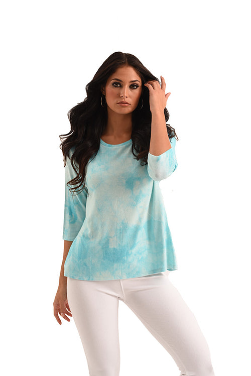 Willow 3/4 Tie Dye Kashmira Top