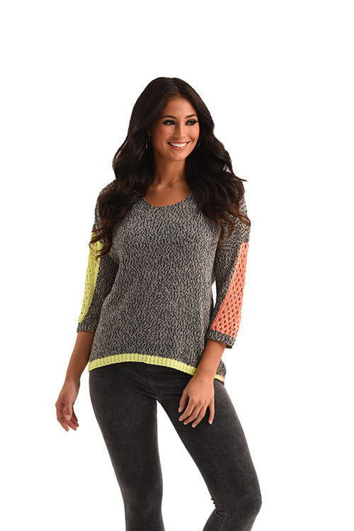 Tracy Color Block Crochet Top