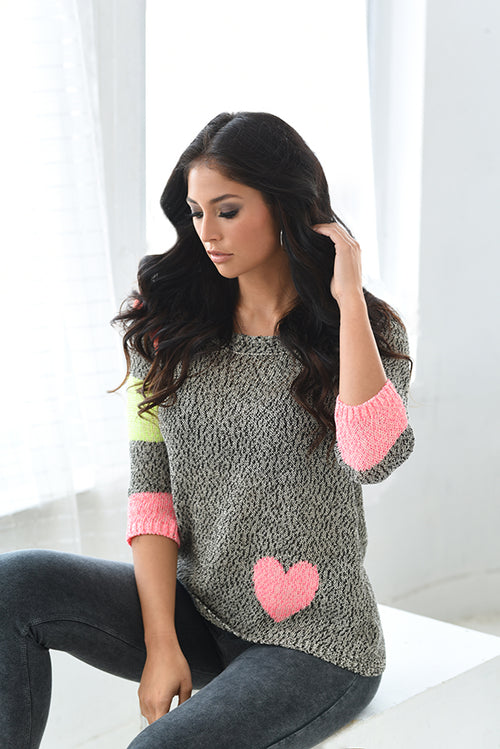 Lex Crochet Heart Top