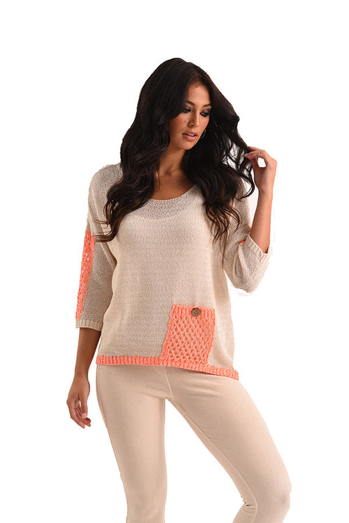 Sadie Pocket Crochet Top