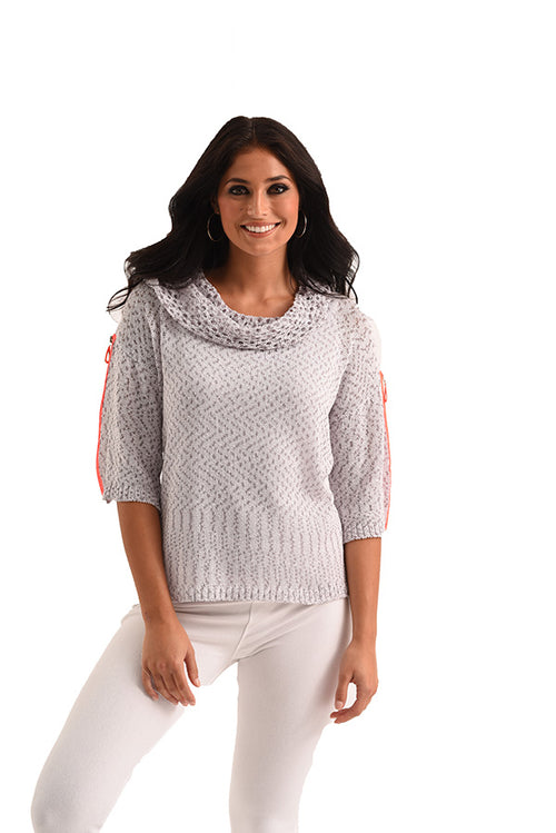 Raquelle Cowl-Neck Crochet Top