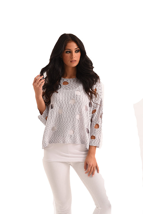Ali Cut Out Crochet Top