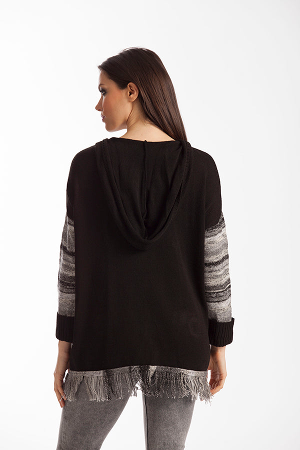 Katherine Braided Open Neck Sweater