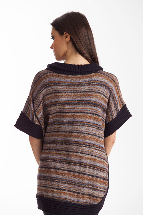 Penelope Zip-Up Poncho