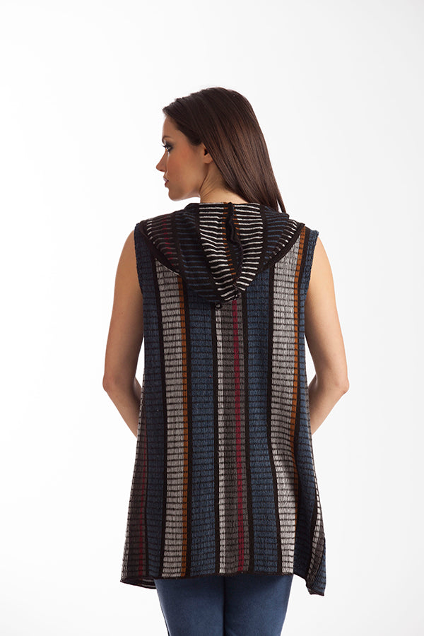 Madison Long Hooded Vest