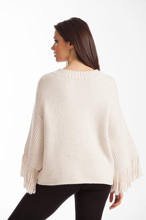 Amia Ribbed V-Neck Sweater