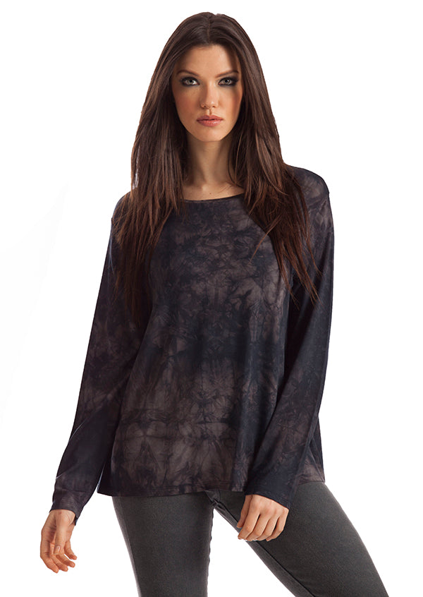 Julie Tie-Dye Scoop Neck Pullover