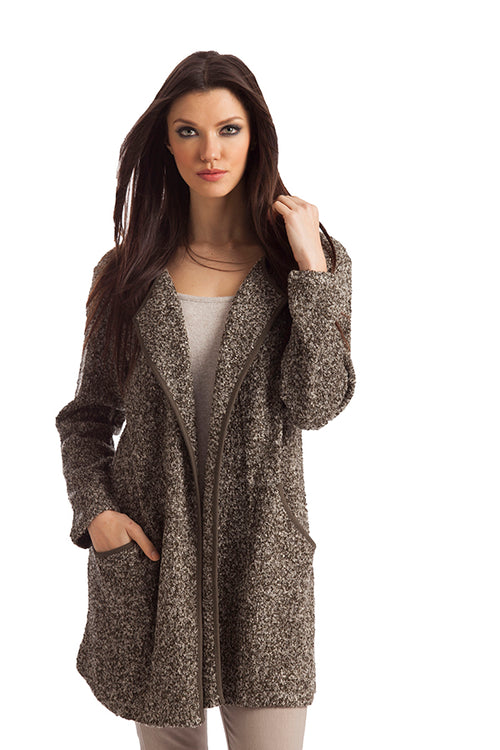 Lara Long Tweed Cardigan