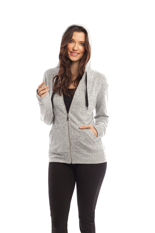 Kourtney Kashmira Zip-Up Hooded Sweatshirt