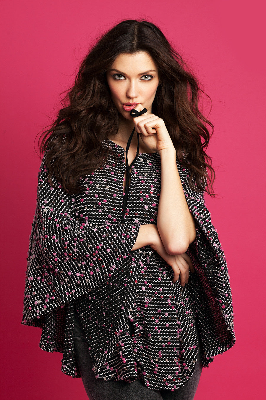Aria Tie-Up Poncho