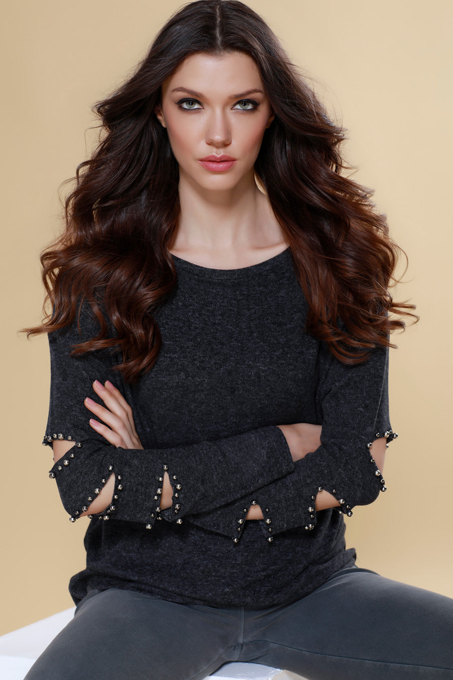 Avianna Kashmira Beaded Cut Out Sleeve