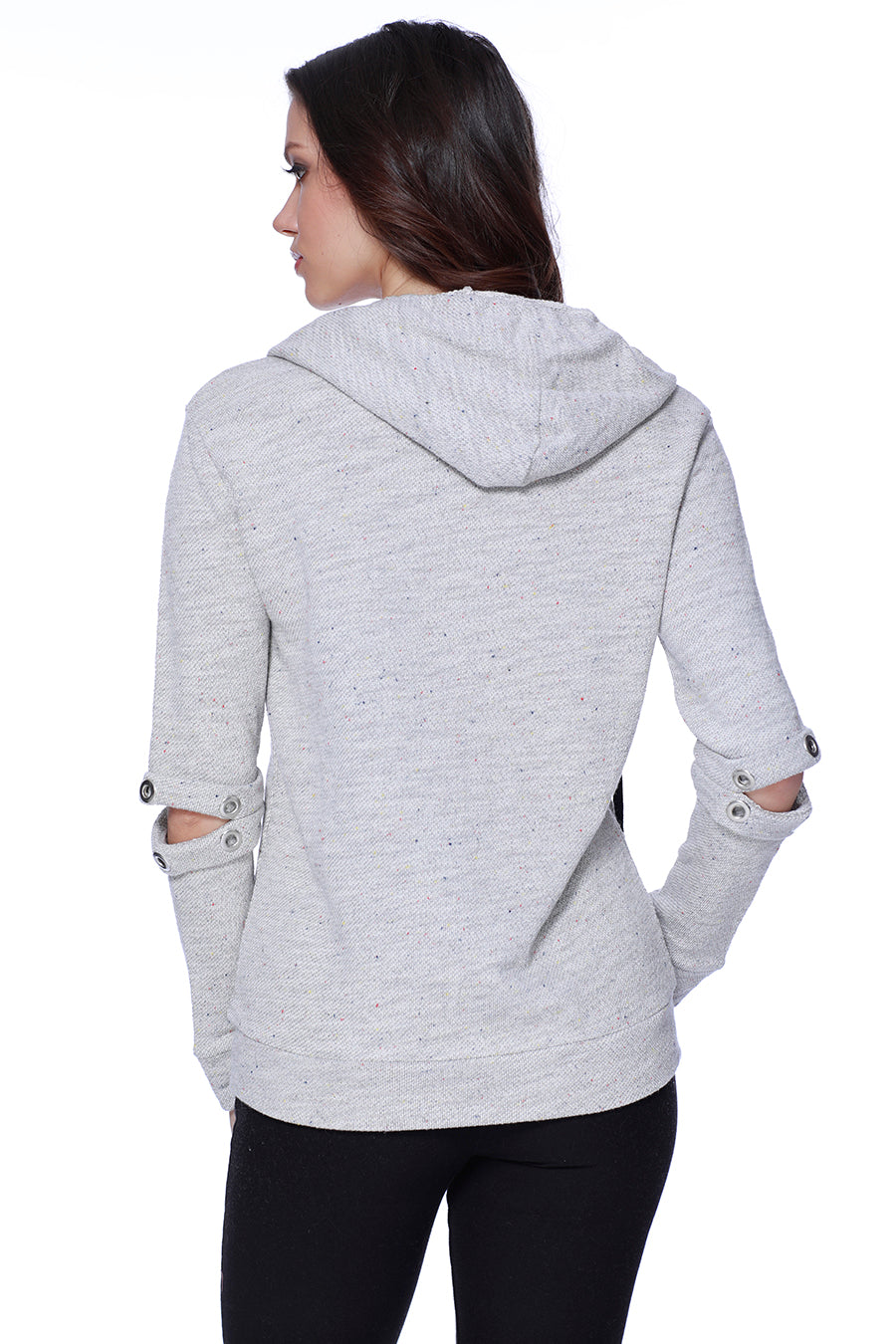Arabella Zip Up Silt Elbow Hoodie
