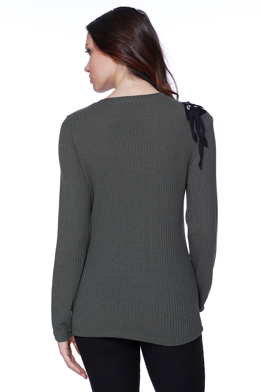 Sasha Tie Up Shoulder Pullover