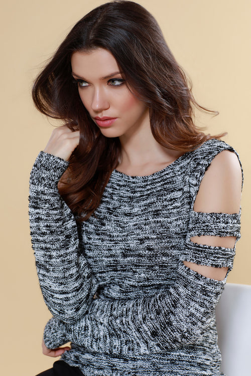 Tatiana Tweed open Sweater