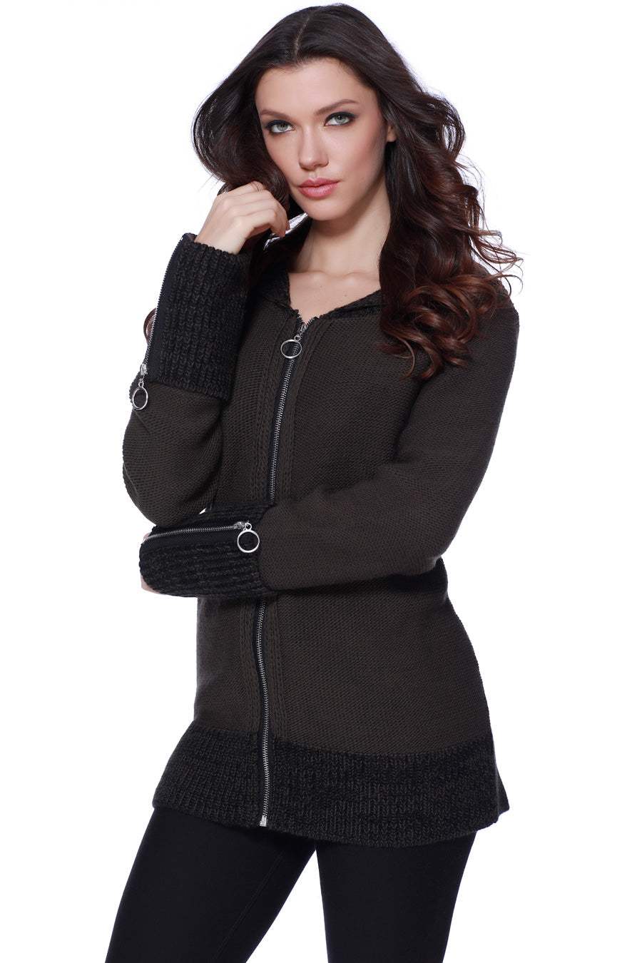Jayden Tweed Hooded Cardigan
