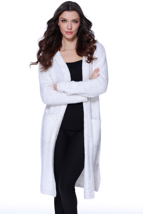 Arianna Long Hooded Cardigan W/ Pockets