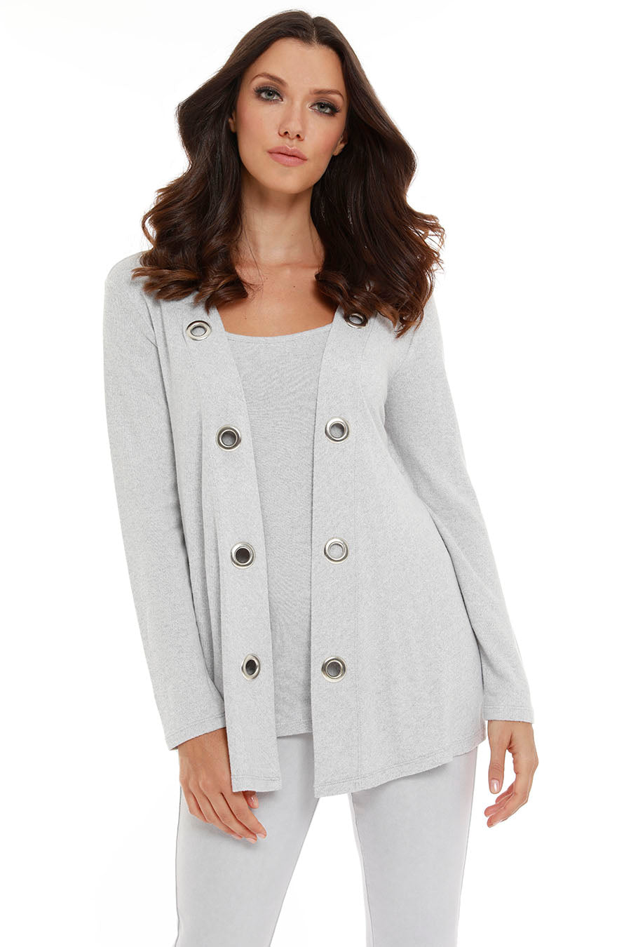 Juliana Kashmira Open Grommet Cardigan