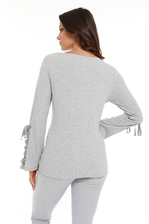 Leah Tie Long Sleeve Top