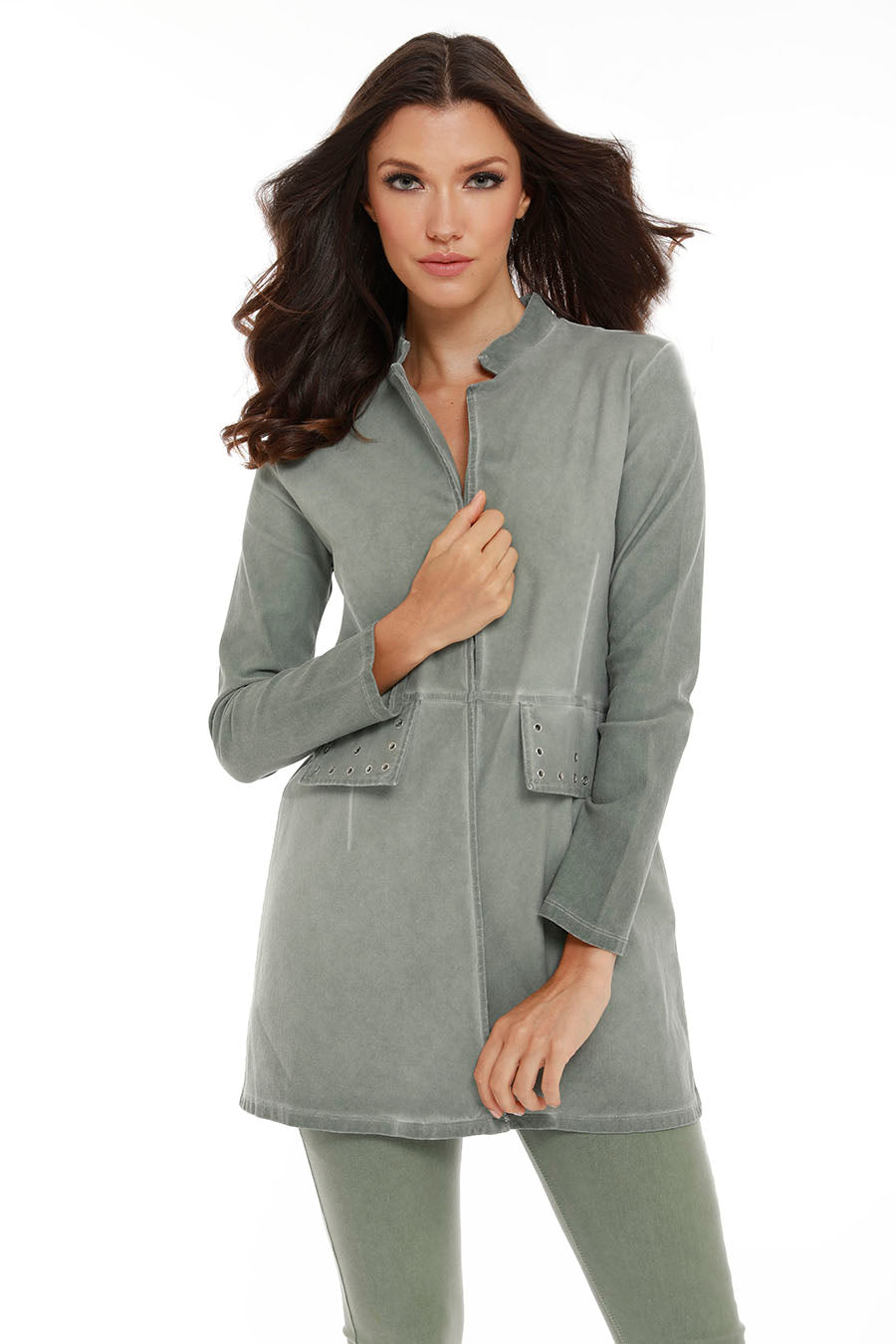 Amaya Long Grommet Jacket
