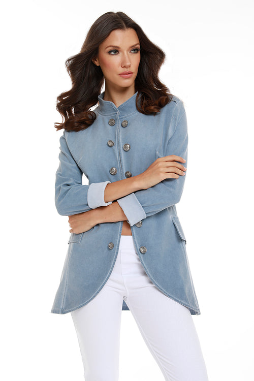 Amina Long Button Jacket
