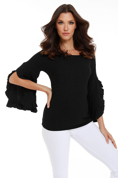 Lydia Ruffle Sleeve Top