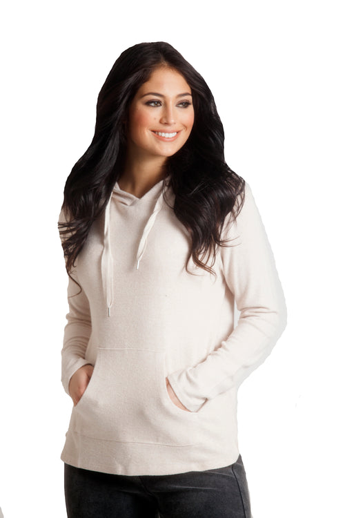 Alyssa Kashmira Hooded Sweatshirt w/Drawstrings