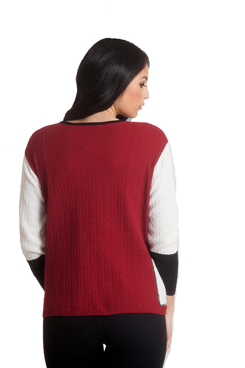 Boucle Color Block Sweater