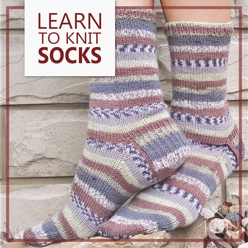 Learn to Knit Socks Class; March 18th, 25th, April 1st, 2020