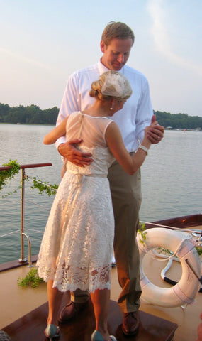 The Bride & Groom's last dance aboard the Lady Grace at Palmetto Bluff