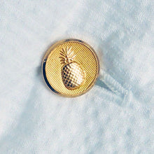 Pineapple Brass Button