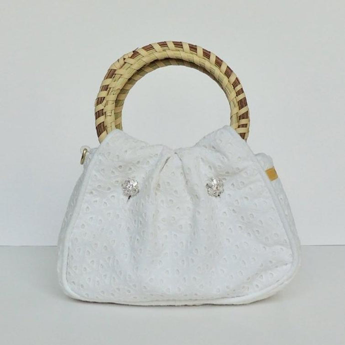 Charleston Carry Sea Island Eyelet Wedding Purse Front