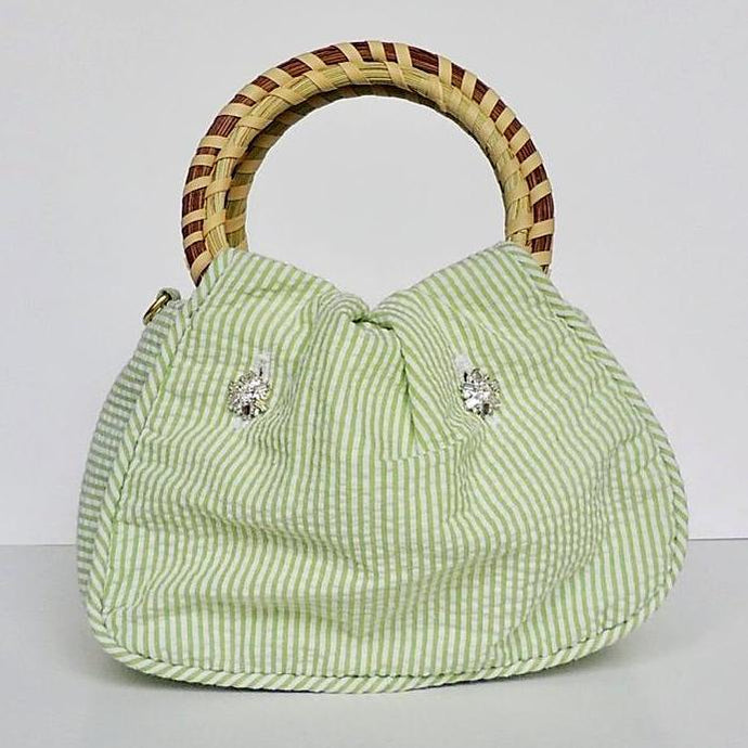 Charleston Carry Boxwood Belle Wedding Purse Front