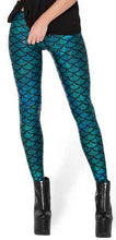 Novelty Fish Scale Shine women leggings Mermaid Fitness leggings punk pants