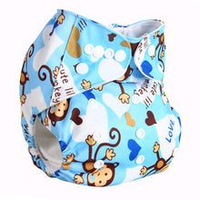 Baby Washable 1pc Cloth Diaper with 1pc Microfiber Insert Baby Diapers Reusable Cloth Nappy Suit