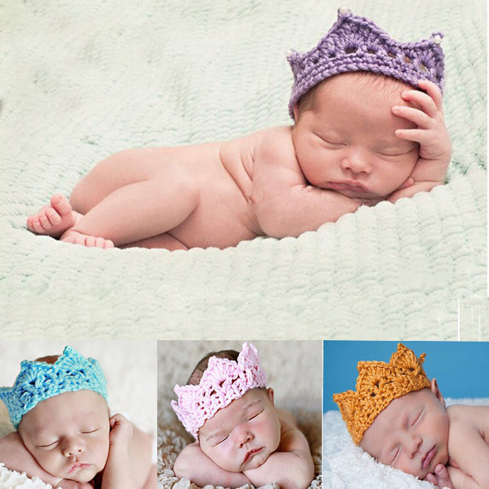 Newborn Royalty Hand-woven Crown Headband 2-10 Months