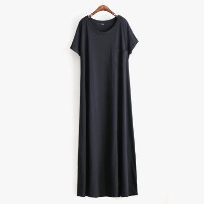 ad4d5239117 New Casual Women dress Street beat short sleeve T-shirt dress loose women s long  dress